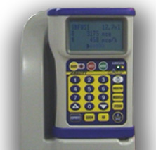 The GemStar connected to the docking station provided with a pole clamp